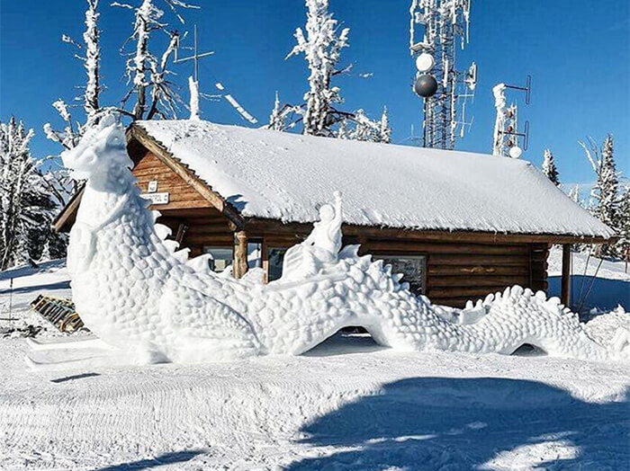 Affordable family winter getaway: Ice Sculptures at the McCall Winter Festival
