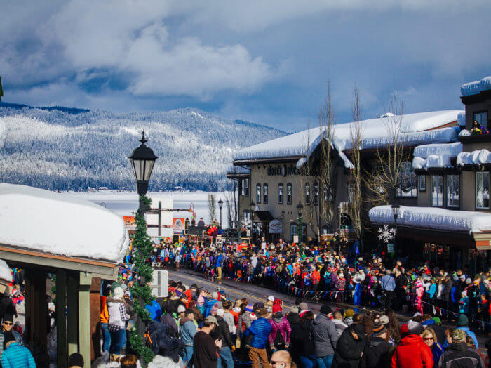 Affordable family winter getaway: Mardis Gras parade at the McCall Winter Festival