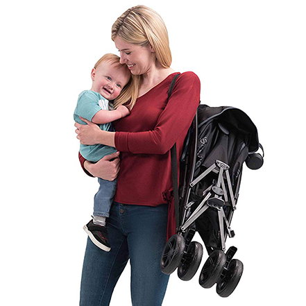 The Summer 3Dlite+ Travel Stroller has a light and portable frame that folds up easily. It will definitely save your sanity while traveling!